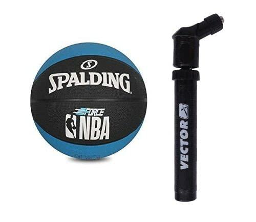 Spalding Force NBA - Balón de entrenamiento para interiores y exteriores, talla 7, color azul