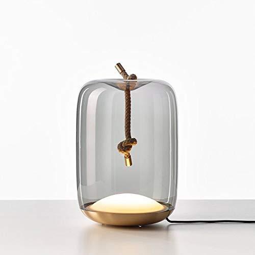 Yangmanini Lámpara De Mesa De Sala De Estar Creativa De Cristal LED Lámpara De Mesa De Estudio De Diseño De Dormitorio De Cabecera De Arte Decoración del Hogar