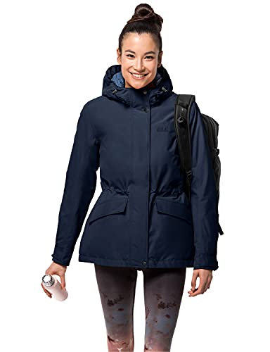 Jack Wolfskin Lake Louise Veste Jacket, Midnight Blue, XL Womens