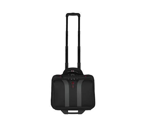 Wenger 600659 GRANADA 17-Zoll-Rad-Laptop-Tasche, gepolsterte Laptopfach mit Übernachtung Fach in schwarz, 42 x 35 x 25 cm (B x H x T), 24 Liter