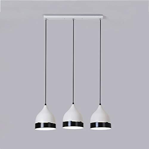 Lyuez driekoppige restaurant versierde lampen-zwart disc-driekoppen E27 warm-kandelaar creatief modern minimalistische nacht kroonluchter warm licht slaapkamer bedlampje