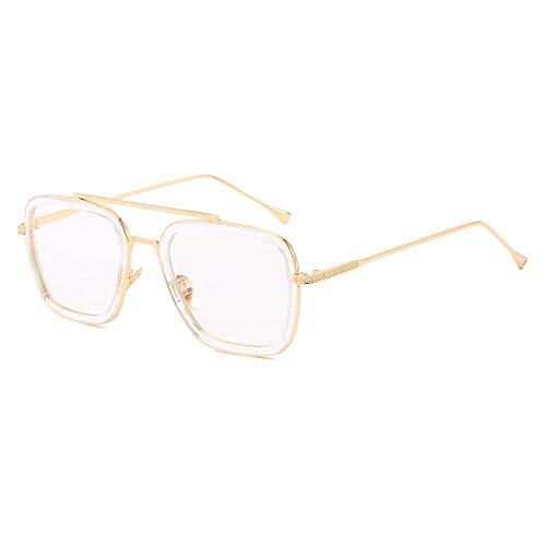 Gafas de sol Iron Man Gafas Rectángulo Vintage Gafas de Sol Retro Seyewear