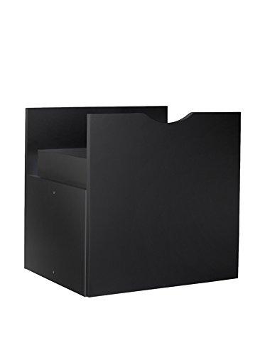 13Casa-Kaos a4 tiroir libreria. Dim.33 x 28,5 x 33 h-nobilitato Noir