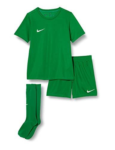 Nike LK NK DRY PARK20 KIT SET K, Calcio Unisex Bambini, pine green/pine green/(white), S