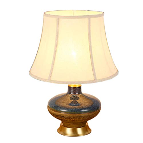 Tafellamp van keramiek, basis van koper, tafellamp, decoratie, voor binnen, woonkamer, tafellamp, creatieve tafellamp, diameter 40 cm 40 * 50CM
