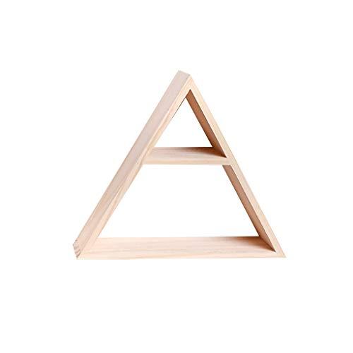 KINTRADE Rustikaler Stil Lagerregal aus Holz handgefertigt DIY Dreieck Commodity Regal Lagerregal Dekoration