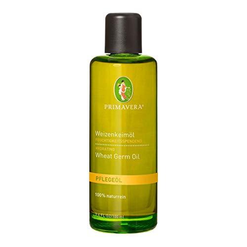 PRIMAVERA Pflegeöl Weizenkeimöl 100 ml - Naturkosmetik, Pflanzenöl, Schwangerschaftsöl - feuchtigkeitsspendend bei müder Haut - vegan