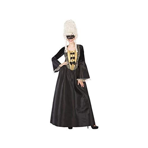 Atosa 55926 COSTUME COURTIER BLACK XL, dames, zwart/goud