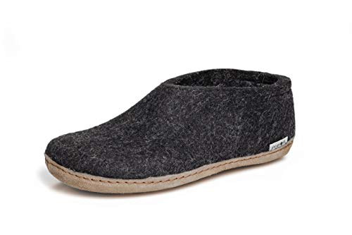 glerups dk A Shoes Unisex-Erwachsene Filz-Hausschuh, Damen,Herren Huettenschuhe,Filz-Schuhe,Filz-Pantoffel,Pantoletten,Puschen Schwarz, 39 EU / 6 UK