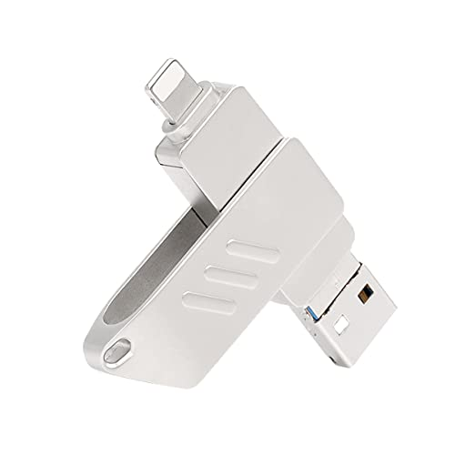 Flash Drive USB para iPhone, Pulgar Drives PhotoStick USB 3.0 Memory Stick 3 en 1 OTG Pen Drive para iPhone Pad iOS Mac Android y PC (64GB)