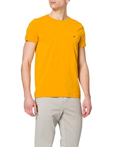 Tommy Hilfiger Herren Stretch Slim FIT Tee T-Shirt, Innenhofgelb, S