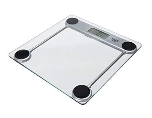 315dF klG2L. SL500  - Adler ad8121 - Báscula de baño, transparente, vidrio, lcd