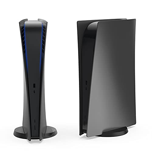 NexiGo PS5 - Mascherina frontale per PlayStation 5 Digital Edition, in ABS, antigraffio, antipolvere, protezione protettiva per PS5 Digital Edition (nero)