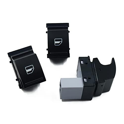 Interruptor de Ventana de Coche para Seat Alhambra Altea XL Ibiza V Leon Toledo, para VW Polo 6R Tiguan, para Jetta Golf 5 OEM: 7L6959855B, botón de Control de Interruptor de Ventana 3PCS