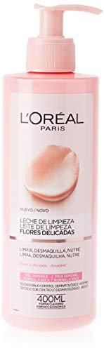 L'Oreal Paris Dermo Expertise Flores Delicadas Leche de Limpieza Piel Sensible, Normal a Seca