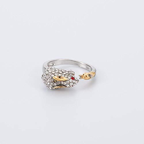 HDDWZH Woman Ring,Zwölf Tierkreiszeichen Hase Verstellbarer Ring Tier Mode 12 Sternbilder Ring Frauen Mädchen Schmuck Zubehör Geburtstagsgeschenk