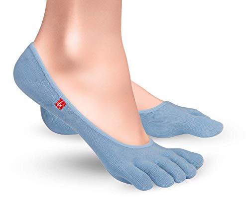 Knitido Zero Zehensocken Füßlinge, dünne Coolmax Socken für Aktive, Slipper Socken, Damen & Herren, Größe:39-42, Farbe:hellblau (605)