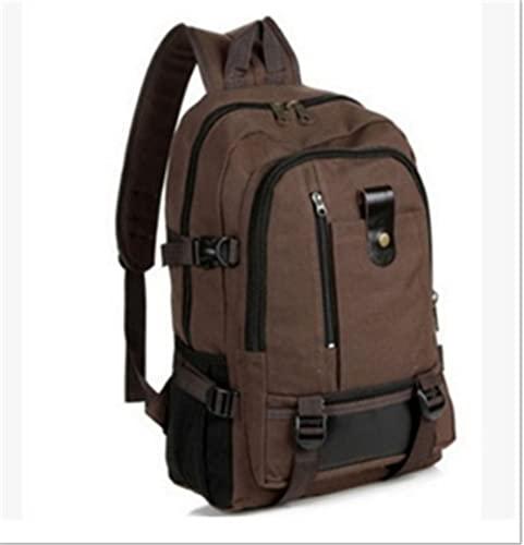 KIUY Mochila de viaje, bolsa de viaje para hombre de gran capacidad, mochila de montañismo, para equipaje, para hombre, color caqui