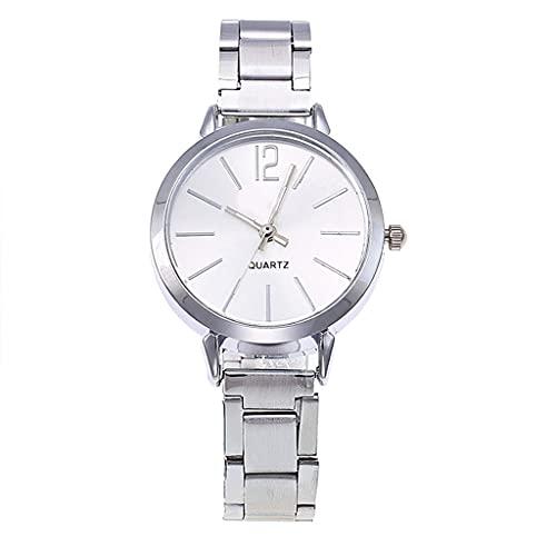 OWZSAN Mujeres Reloj Mecánico De Mujeres Rosa Gold Cerámica De Acero Inoxidable Correa De Cerámica Relojes Moda Marca De Lujo Reloj Automático De Mujeres Reloj Digital (tamaño : White)