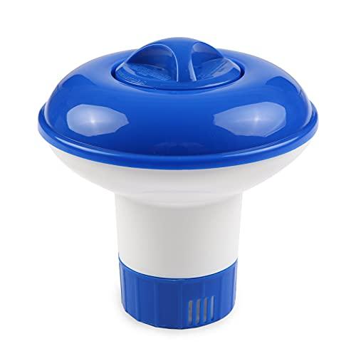 Flytise Dispenor flotante de tabletas químicas de cloro de gran tamaño Soporte para tabletas de bromo Dispenor automático de sustancias químicas para piscinas para piscinas Fuente de spa Piscinas Disp