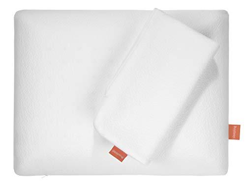 sleepling 196552 Nackenstützkissen viscoelastisches Memory Foam Kissen, 42 x 54 x 12 cm, weiß