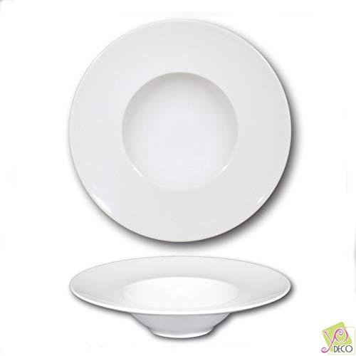 Assiette à risotto en porcelaine blanche - D 27,5 cm - Napoli