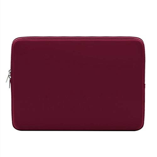 GGTDE 13 Inch Laptop Sleeve Protective Case Soft Lining Padded Zipper Laptop Sleeve Cover Carrying Bag Notebook Computer Tablet Travel Bag,Red Wine