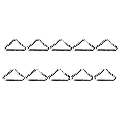 WINOMO 30 Stück Dreieck Ringschnalle Stahl V-Ringe Metall Ring Schnalle Anschlüsse Trampolin Ersatzteile Gurttasche Verschluss Handtasche Gurt Herstellung Hardware