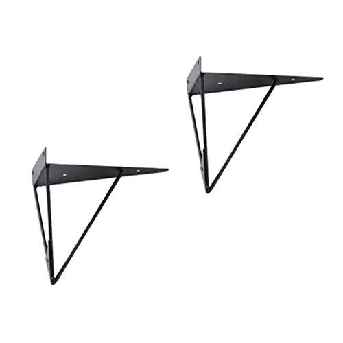 DGDF 2 piezas vintage industrial estante soporte colgante hardware de pared, estante de pared de hierro forjado muebles industriales perfecto para estantes personalizados