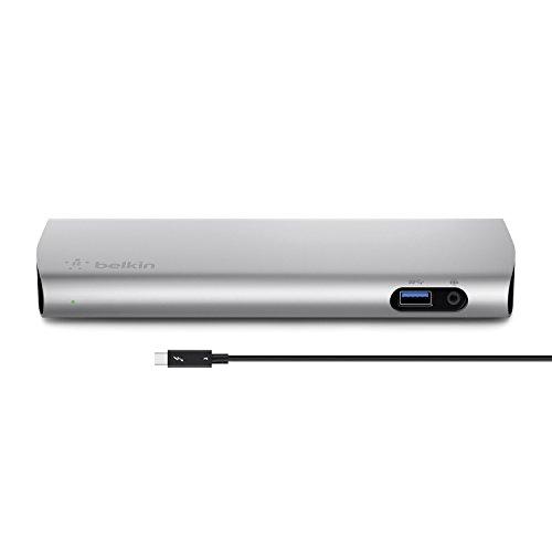 Belkin E9M062TT Handy-Dockingstation Schwarz, Silber - Handy-Dockingstationen (Apple, MacBook Pro 13