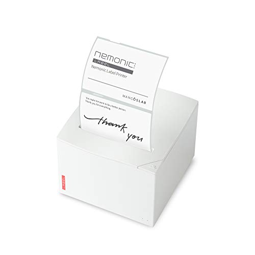 Nemonic Label - Label & Sticky Note Printer for Small Business Owner | Thermal Label Printer | Bluetooth Label Printer | iOS & Android & MS Office | Product Labeling & Packing Orders & Food Package