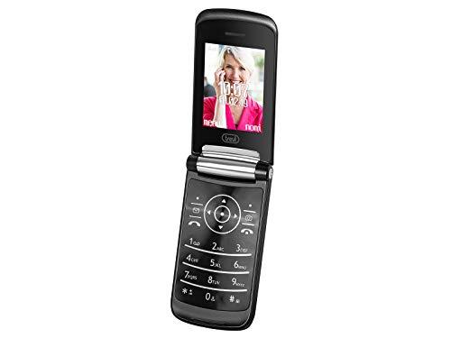 """Trevi FLEX 50 GT Telefono Cellulare per Anziani Senior a Conchiglia con Tasti Grandi, Grande Display LCD da 2.4"""", Funzione Chiamata Rapida, Bluetooth, Nero"""