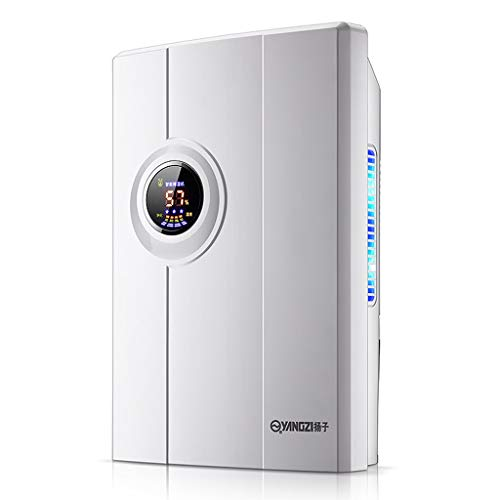 Dehumidifier, 2200ml Dehumidifiers for Home with Whisper Quite, Continuous Drain Hose, Low Energy, Auto Shut Off, Air purification, LED Display for Damp, Mould, Moisture,A