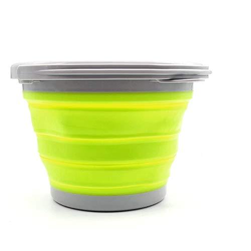 YWSZJ Zusammenklappbar Silikon-EIS-Bucket Tragbare Champagne-Bier-Wein-Kühler Folding Ice Cube Bucket Hausbar Lagerung Eimer