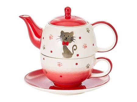 Cha Cult Tea for one Set Mascha Keramik, 4-teilig Kanne: 0,4 l, Tasse: 0,2 l