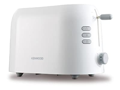 Kenwood True TTP200 2-Slice Toaster, variable browning control, cancel, reheat and defrost settings and removable crumb tray- White
