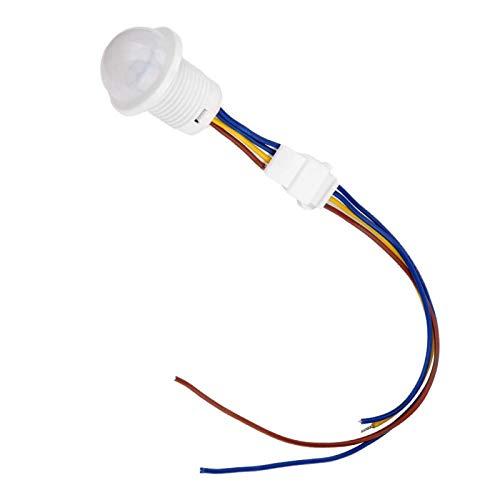 Detector de haz de infrarrojos, MR-HW06A / MR-HW08F Interruptor de control de sensor de movimiento infrarrojo automático LED de 1-40W(MR-HW06A)
