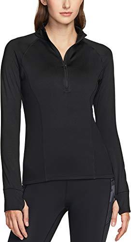 TSLA Women's Winterwear Sporty Slim Fit 1/2 Zip Fleece Lining...