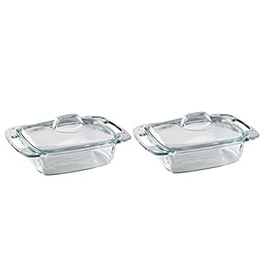 Set of 2 Pyrex® Easy Grab® 2-qt Casserole bundled by Maven Gifts