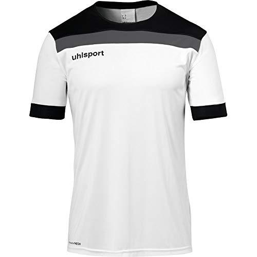 uhlsport Herren Offense 23 Trikot Kurzarm Fussball Trainingsbekleidung, weiß/schwarz/Anthra, XXXL