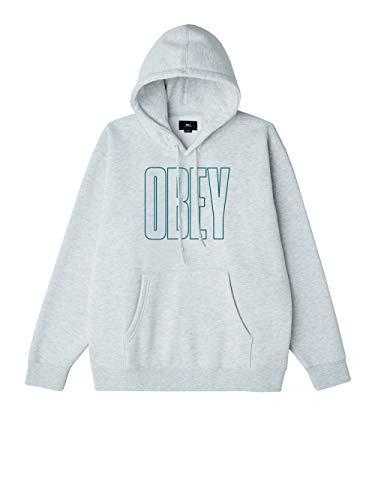Obey Worldwide Line Box Fit Hood Sudadera con Capucha Ash Grey