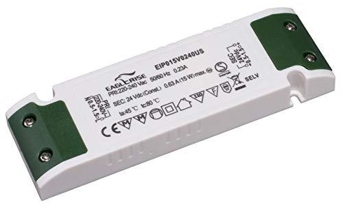 HuaTec Eaglerise - Trasformatore LED da 12 V, 24 V, tensione costante per lampadine fino a 30 W/ 60 W/ 100 W, alimentatore di rete super sottile