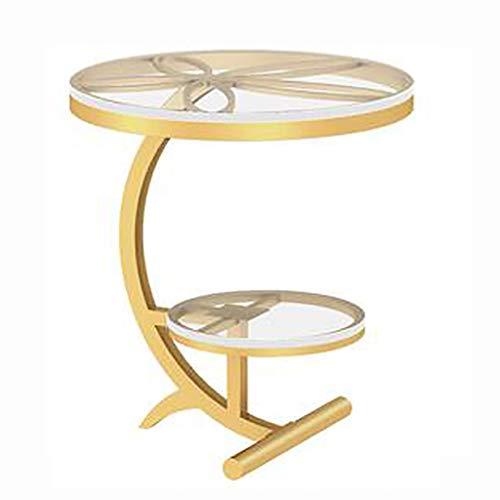 NGQDHR Canapé côté Nordique Balcon Petite Table Basse en marbre lumière Coin de Luxe Petite Table Ronde Table de Chevet (Couleur : D)