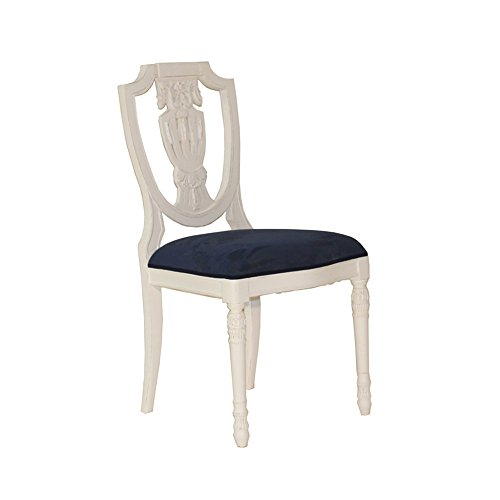 Stuhl Sheraton Mahagoni weiß Landhausmöbel Stilmöbel Lehnstuhl Esszimmerstuhl Küchenstuhl