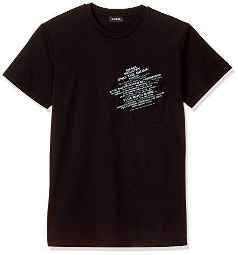 DIESEL T-WORKY T-Shirt & Polo Hommes Nero - XXL - T-Shirt Maniche Corte