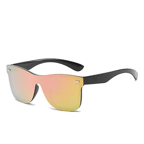 RHoet Gafas de Sol One Piece Tendencia Personalidad Eyeglass Marca Diseño Protección Reflectante Glassess De Solless UV400 Gafas de Sol para Mujer (Lenses Color : C6)