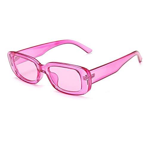 Gafas De Sol Gafas De Sol Rectangulares Cuadradas Mujeres Gafas De Sol Vintage para Hombres Viajes Retro Púrpura