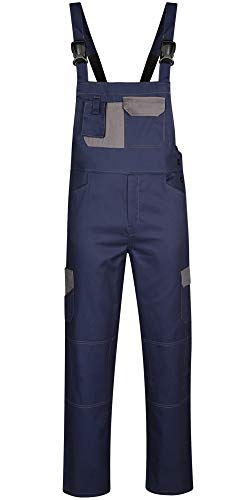 DINOZAVR Omega Herren Arbeitskleidung Baumwolle Arbeits-Latzhose - Hydronblau S