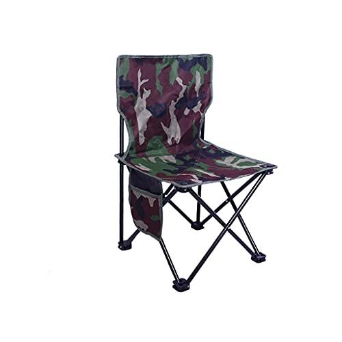 ZRJ Sillas plegables Silla cuádruple compacta ultraligera Silla de playa Sillas de mochilero para exterior y camping con bolsillos laterales sillas plegables (color: 2)