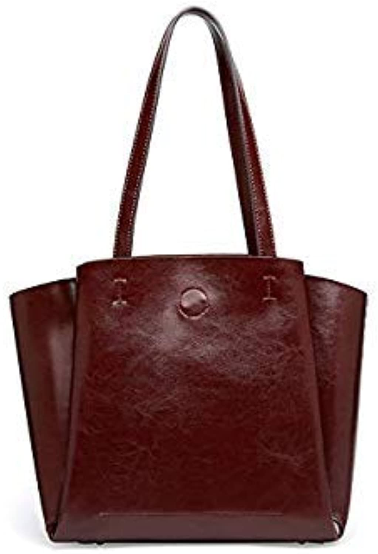 Bloomerang DIENQI High Quality Soft Genuine Leather Female Shoulder Bags Big Capacity Designer Women Leather Handbags Ladies Tote Hand Bags color Coffee